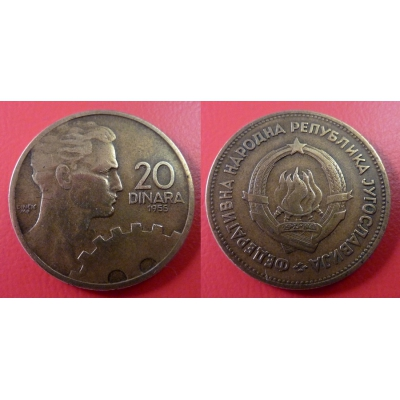 20 dinara 1955