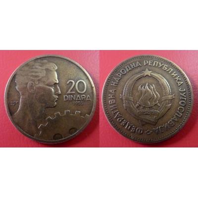Jugoslávie - 20 dinara 1955