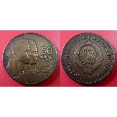 Jugoslávie - 50 dinara 1955