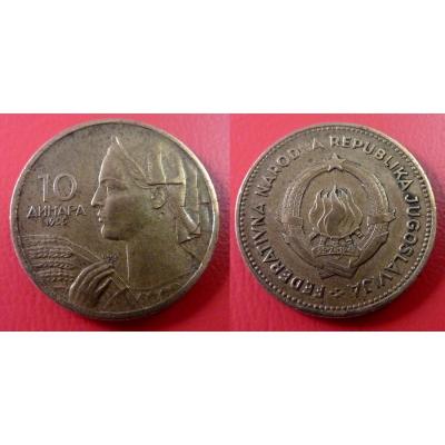 Jugoslávie - 10 dinara 1955