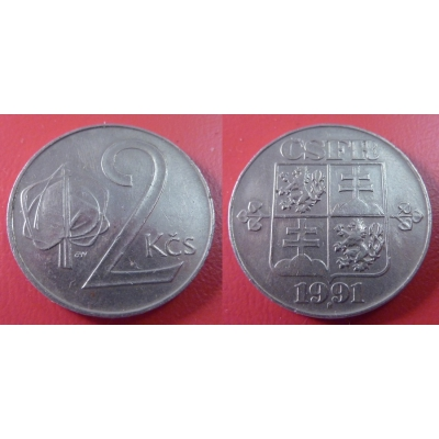 2 koruny 1991