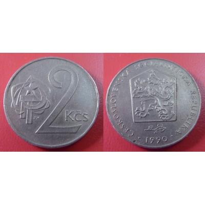 2 koruny 1990