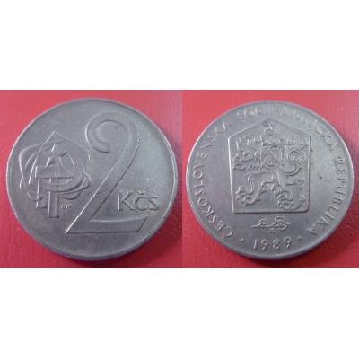 2 koruny 1989