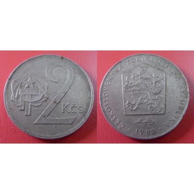 2 koruny 1983