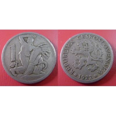 1 koruna 1922