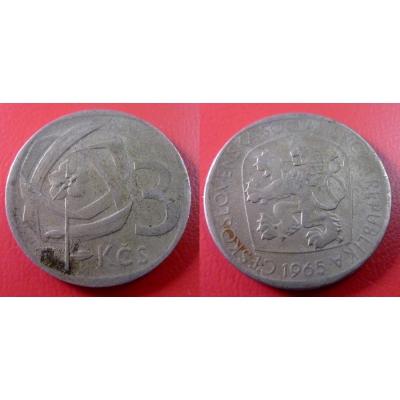 3 koruny 1965