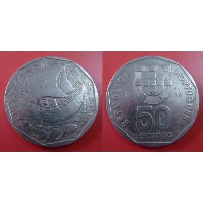 Portugalsko - 50 Escudos 1989