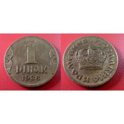 Jugoslávie - 1 dinar 1938