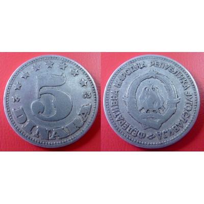 Jugoslávie - 5 dinara 1953