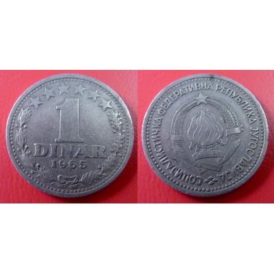 Jugoslávie - 1 dinar 1965