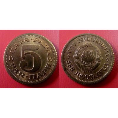 Jugoslávie - 5 para 1965