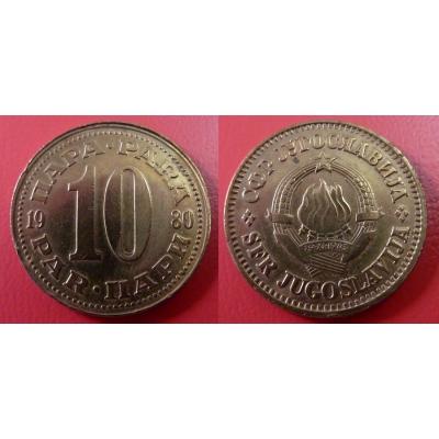 Jugoslávie - 10 para 1980