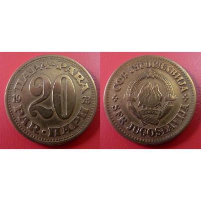 Jugoslávie - 20 para 1973