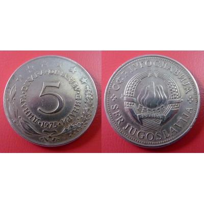 Jugoslávie - 5 dinara 1975