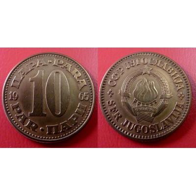 Jugoslávie - 10 para 1965