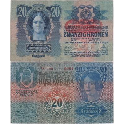 20 korun 1913, I. vydání