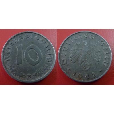 10 Reichspfennig 1942 B