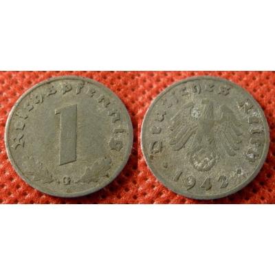 1 Reichspfennig 1942 G