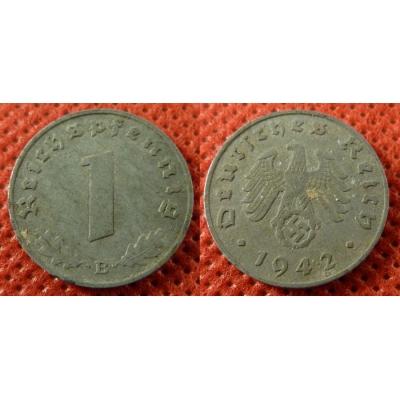 1 Reichspfennig 1942 B