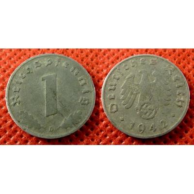1 Reichspfennig 1942 D