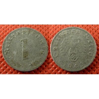 1 Reichspfennig 1943 D