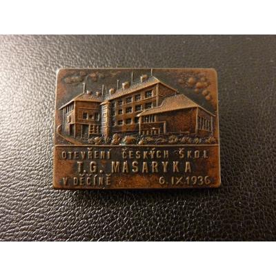 Otevření českých škol T.G. Masaryka v Děčíně 1936
