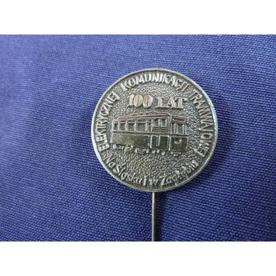 100 let elektrické tramvaje v Záhřebu - odznak jehla