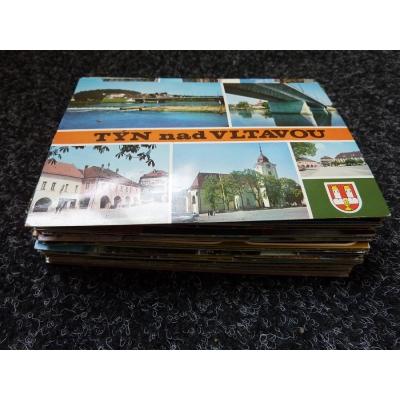 Konvolut pohlednic - 100 kusů místopis