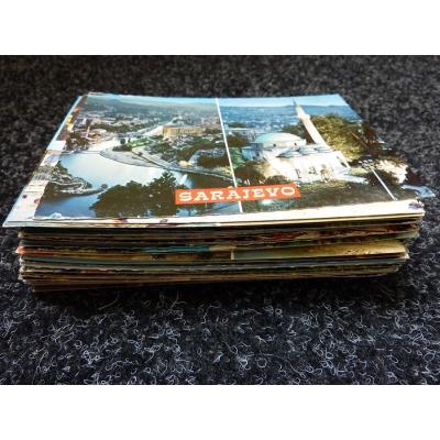 Konvolut pohlednic - 100 kusů místopis Evropa
