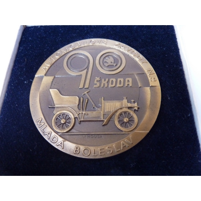 90. výročí Škoda auto Mladá Boleslav, medaile v etui