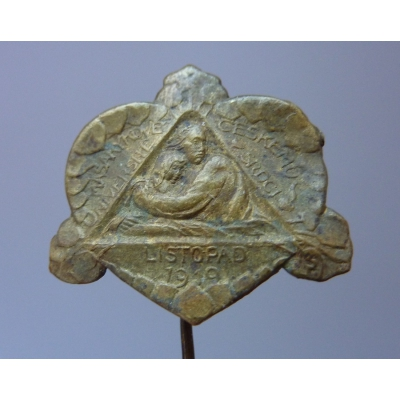 Masarykově univerzitě,českému srdci 1919, odznak jehla