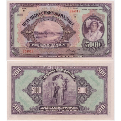 5000 korun 1920, série C