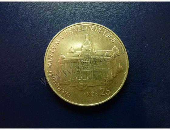 25 korun 1968 - 150 let založení Národního muzea