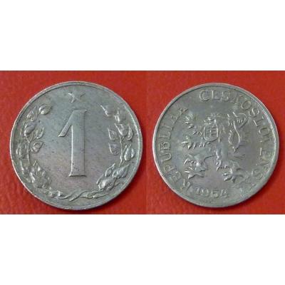 1 haléř 1954