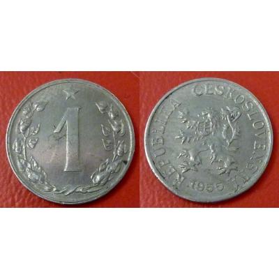 1 haléř 1955
