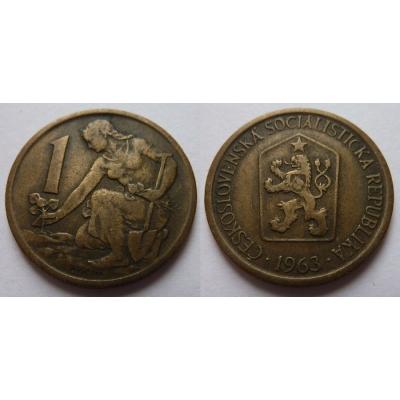 1 koruna 1963