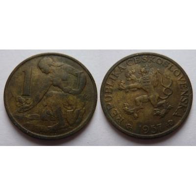 Československo - mince 1 koruna 1957