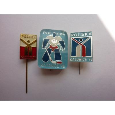 Sada odznaků MS v ledním hokeji 1976 Katowice