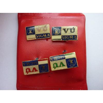 VÚ Sigma - sada odznaků v pouzdře