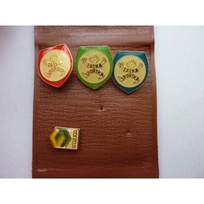 Sazka, Sportka - sada odznaků v pouzdře