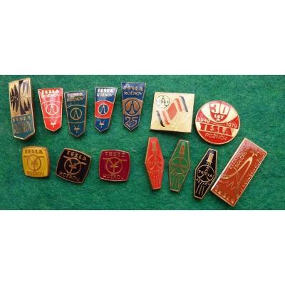 Tesla Rožnov - sada odznaků