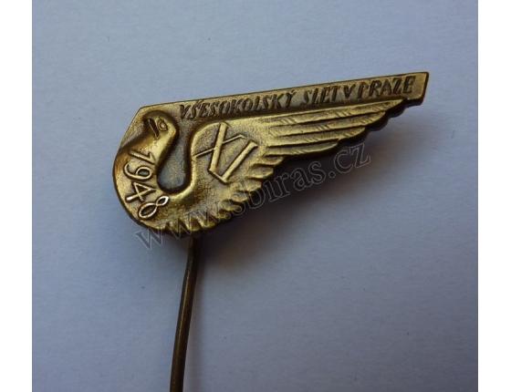XI. Všesokolský v Praze 1948, odznak jehla