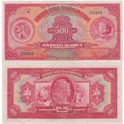 500 korun 1929 svislý specimen