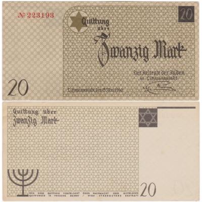 20 Marek 1940, židovské gheto Lodž, aUNC