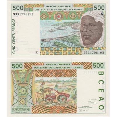 Západní Afrika - Senegal 500 franků UNC