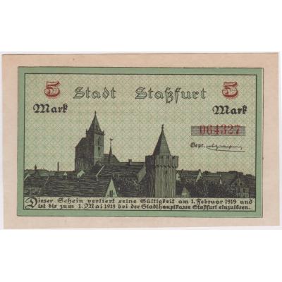 5 MAREK 1918 STASSFURT UNC