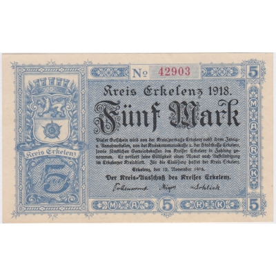 5 Marek 1918 Erkelenz UNC