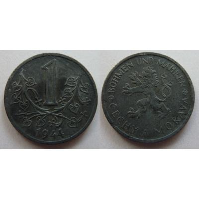 Protektorát Čechy a Morava - mince 1 koruna 1944