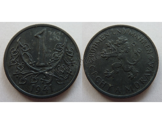 Protektorát Čechy a Morava - mince 1 koruna 1941