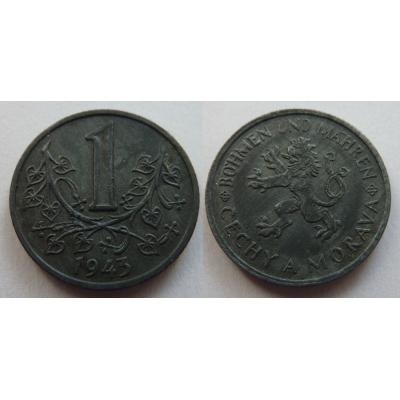 Protektorát Čechy a Morava - mince 1 koruna 1943